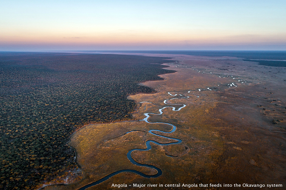 Angola - Major river in central Angola that feeds into the Okavango system