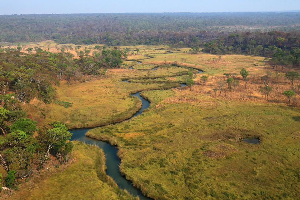 Angola - River in the Source Lakes region