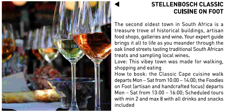 Stellenbosch Classic Cuisine On Foot - South Africa Experience
