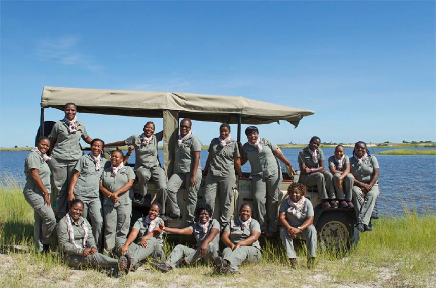 Chobe Game Lodge has the only all-female guiding team in Africa