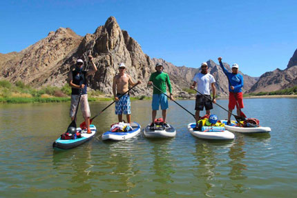 Stand up paddle boarding in Botswana