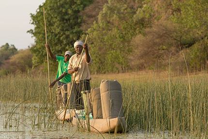 Moving with the mokoro - On Foot Through Botswana | Botswana Safaris & Tours