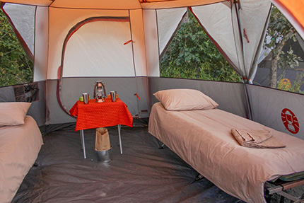 Tent interior - On Foot Through Botswana | Botswana Safaris & Tours
