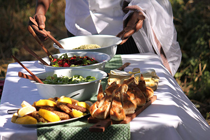 Meal - On Foot Through Botswana | Botswana Safaris & Tours