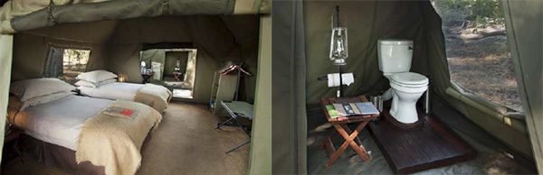Dome tent for 8 Night Botswana Highlights Mobile Safari