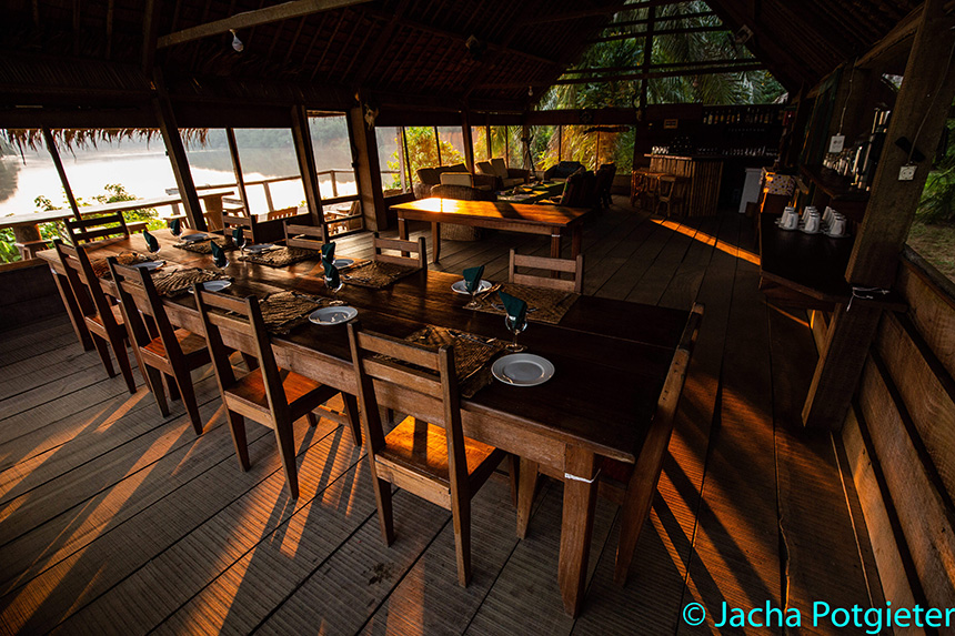 Dining area - Sangha Lodge | Safari Camps in Dzangha-Sangha National Park, Central African Republic