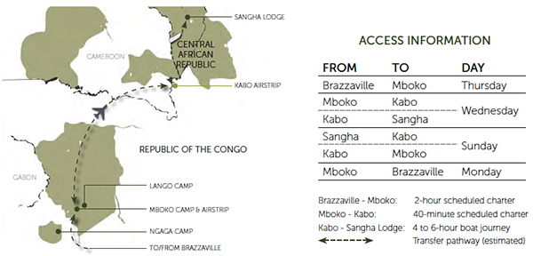 Congo Basin Discovery, 11 Nights - Map