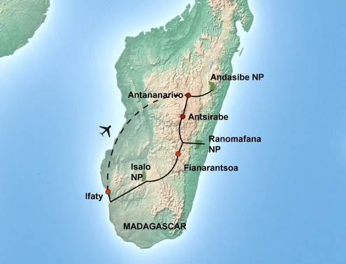 1000 Views of Madagascar - Map