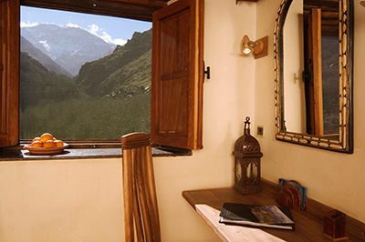 View from a standard room - Kasbah Du Toubkal in Toubkal National Park, Morocco