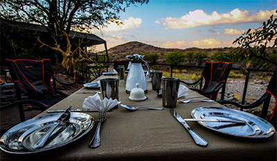 Dining - Huab Under Canvas - Huab Conservancy in Damaraland, Namibia