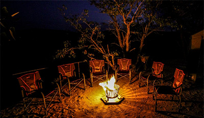 camp fire - Huab Under Canvas - Huab Conservancy in Damaraland, Namibia
