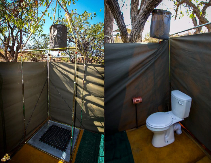 Bathroom - Huab Under Canvas - Huab Conservancy in Damaraland, Namibia
