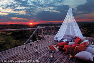 Sleep out - Sanctuary Makanyane Safari Lodge