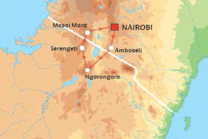 Great East Africa Migration Safari Map