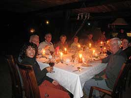 Dinner at South Africa and Namibia Safari