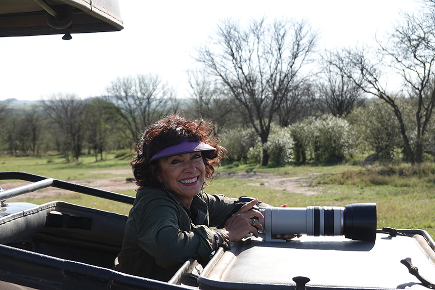 Cinid in a safari vehicle - Tanzania 2018 Trip Report