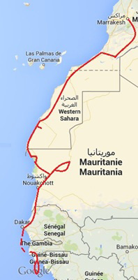 The Ultimate Trans-Sahara & Black Africa Expedition - Map